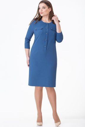 Купить Платье Линия-Л Б-1678 синий, Платья, Б-1678, синий, ПЭ 97%+Спандекс 3%, Мультисезон