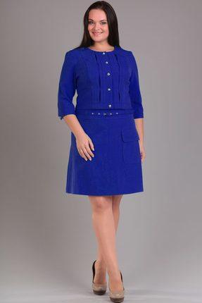 Купить Комплект юбочный Lady Style Classic 840 василек, Юбочные, 840, василек, ПЭ 63%+Вискоза 32%+Эластан 5% Подкладка юбки: ПЭ 100%, Мультисезон