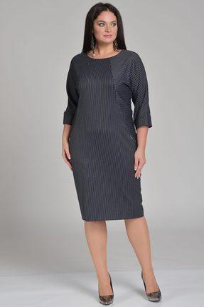 Купить Платье Lady Style Classic 1678 чернильный, Платья, 1678, чернильный, ПЭ 63%+Вискоза 34%+ПУ 3%, Мультисезон