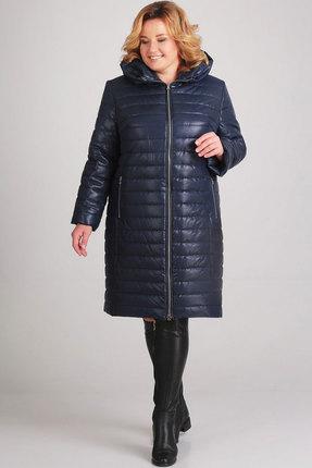 Пальто Асолия 3518 тёмно-синий