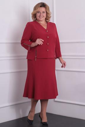Купить Комплект юбочный Milana 974 бордовые тона, Юбочные, 974, бордовые тона, Материал костюма: Костюмно-плательная со стрейчем. Состав: ПЭ-50%, спандекс-3%, вискоза - 47%., Мультисезон