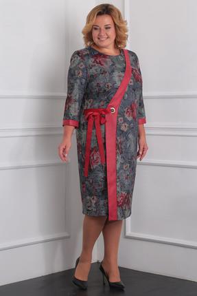Купить Платье Milana 966 серый с красным, Платья, 966, серый с красным, Материал платья: Трикотажное полотно Состав: ПЭ-58%, вискоза-37%, спандекс-5%, Мультисезон