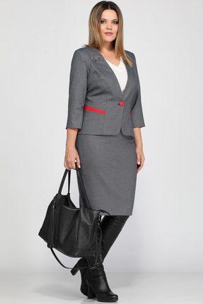 Купить Комплект юбочный Lady Secret 1563 темно-серый, Юбочные, 1563, темно-серый, Жакет и юбка: Вискоза 84%+ПЭ 16% Майка: ПЭ 86%+Вискоза 10%+Спандекс 4%, Мультисезон