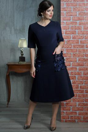 Купить Платье Faufilure с467 синий, Платья, с467, синий, Полиэстер 95%, спандекс 5%, Мультисезон