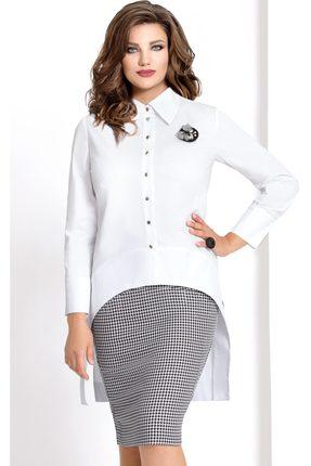 Купить Комплект юбочный Vittoria Queen 6883 черно-белый, Юбочные, 6883, черно-белый, Блуза: Хлопок 63%+Полиамид 33%+Спандекс 4% Юбка: ПЭ 61%+Вискоза 37%+Спандекс 2%, Мультисезон