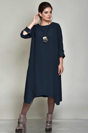 Купить Платье Faufilure с802 синий, Платья, с802, синий, Полиэстер 65%, вискоза 30%, спандекс 5%, Мультисезон