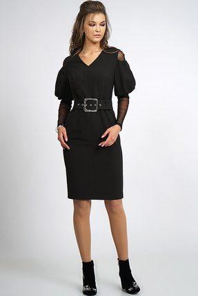 Купить Платье Alani 797 черный, Платья, 797, черный, Ткань плательная «Фиона» ПЭ 95%+Спандекс 5%, Мультисезон