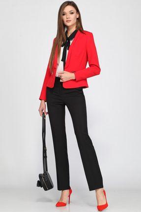 Купить Комплект брючный Lady Secret 2508 красный с черным, Брючные, 2508, красный с черным, Жакет и брюки: ПЭ 100% Блузка: ПЭ 100%, Мультисезон