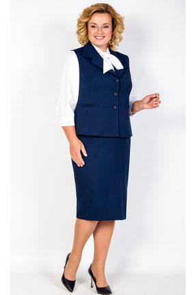 Купить Комплект юбочный TricoTex Style 1736 синий, Юбочные, 1736, синий, 70% п/э, 25% вискоза, 5% спандекс, Мультисезон