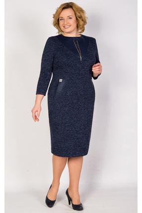 Купить Платье TricoTex Style 5916 синий, Платья, 5916, синий, 70% п/э, 25% вискоза, 5% спандекс, Мультисезон