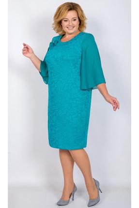 Купить Платье TricoTex Style 104-17/1 светлая-бирюза, Платья, 104-17/1, светлая-бирюза, 70% п/э, 25% вискоза, 5% спандекс, Мультисезон