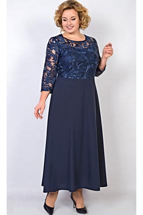 Купить Платье TricoTex Style 109-17 синий, Платья, 109-17, синий, 70% п/э, 25% вискоза, 5% спандекс, Мультисезон