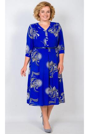 Купить Платье TricoTex Style 6917 василек, Платья, 6917, василек, 70% п/э, 25% вискоза, 5% спандекс, Мультисезон