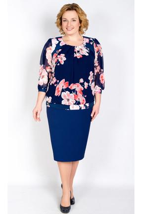 Купить Платье TricoTex Style 6217 синий, Платья, 6217, синий, 70% п/э, 25% вискоза, 5% спандекс, Мультисезон