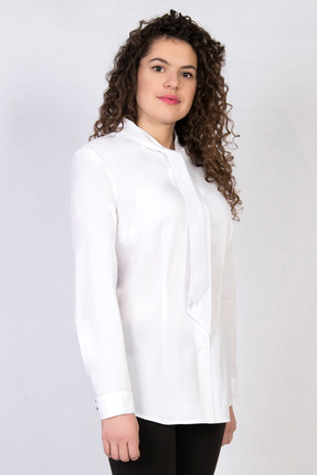 Купить Блузка TricoTex Style 6817 б белый, Блузки, 6817 б, белый, 65% вискоза, полиэстер 30%, 5% спандекс, , Мультисезон