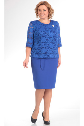Купить Платье TricoTex Style 5316 василек, Платья, 5316, василек, 70% п/э, 25% вискоза, 5% спандекс, Мультисезон