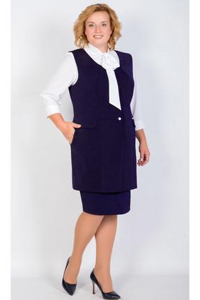 Комплект юбочный TricoTex Style 9517 д темно-синий