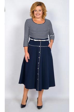 Купить Платье TricoTex Style 112-17 синий, Платья, 112-17, синий, 70% п/э, 25% вискоза, 5% спандекс, Мультисезон