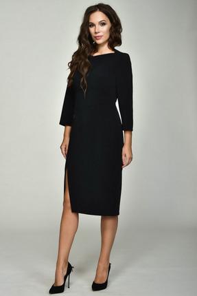 Платье Teffi style 1367 черный, Платья, 1367, черный, 75% ПЭ, 39% вискоза, 6% СП, Мультисезон  - купить со скидкой