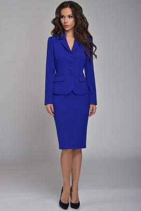 Купить Комплект юбочный Teffi style 1362 синий, Юбочные, 1362, синий, 66% ПЭ, 29% вискоза, 5% спандекс, Мультисезон