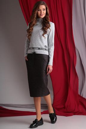 Комплект юбочный Axxa 26087а серо-черные тона