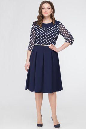 Купить Платье Svetlana Style 840 темно-синий, Платья, 840, темно-синий, ПЭ 95%+Спандекс 5%, Мультисезон