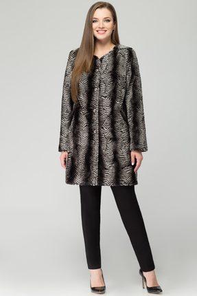 Пальто Svetlana Style 934 черный с серым