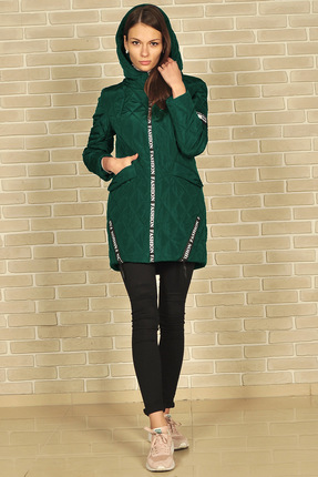 Пальто Миа Мода 947-5 зеленый