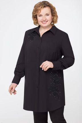 Купить Рубашка Svetlana Style 1041 черный, Рубашки, 1041, черный, ПЭ 95%+Спандекс 5%, Мультисезон