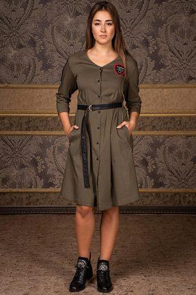 Купить Платье Deesses Р-014 хаки, Платья, Р-014, хаки, Хлопок 97%+Спандекс 3%, Мультисезон