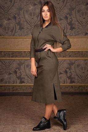 Купить Платье Deesses Р-013.2 хаки, Платья, Р-013.2, хаки, Хлопок 97%+Спандекс 3%, Мультисезон