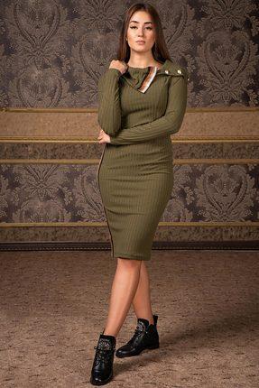 Купить Платье Deesses Р-016 хаки, Платья, Р-016, хаки, Вискоза 60%+ПЭ 35%+Спандекс 5%, Мультисезон