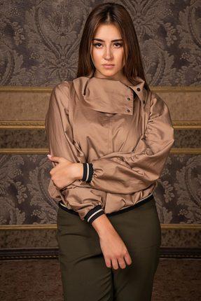 Купить Блузка Deesses R-004.1 бежевый, Блузки, R-004.1, бежевый, Хлопок 97%+Спандекс 3%, Мультисезон