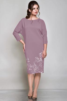 Купить Платье Faufilure с697 бледно-розовый, Платья, с697, бледно-розовый, Полиэстер 95%, спандекс 5% (подкладка: полиэстер 100%), Мультисезон