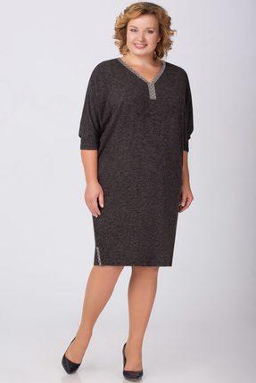 Купить Платье Svetlana Style 782 темно-серый, Платья, 782, темно-серый, ПЭ 70, 7%+Вискоза 23, 4%+Спандекс 5, 9%, Мультисезон