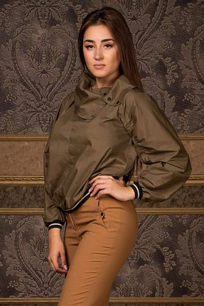 Купить Блузка Deesses R-004.2 хаки, Блузки, R-004.2, хаки, Хлопок 97%+Спандекс 3%, Мультисезон
