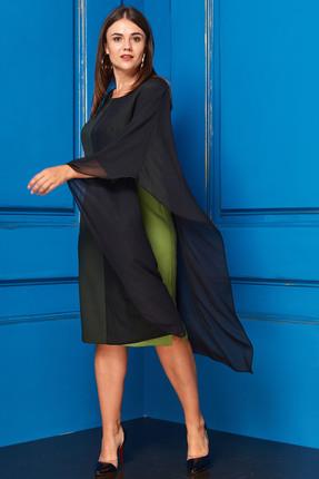 Купить со скидкой Платье Anastasia 213 зеленый с черным