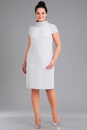 Платье Ива 1046 серебро, Платья, 1046, серебро, плательная 70%п/э, 25%вискоза, 5%спандекс декоративная отделка 100%п/э, Мультисезон  - купить со скидкой