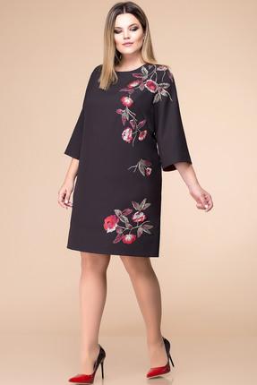 Купить Платье Romanovich style 1-1676 черный с красным, Платья, 1-1676, черный с красным, костюмно-плательная ткань (68% ПЭ, 28% вискоза, 4% спандекс), Мультисезон