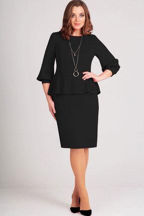 Купить Платье Асолия 2375 чёрный, Платья, 2375, чёрный, ПЭ - 95%, Спандекс - 5%, Мультисезон
