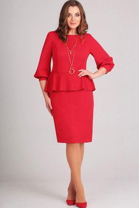 Купить Платье Асолия 2375 красный, Платья, 2375, красный, ПЭ - 95%, Спандекс - 5%, Мультисезон