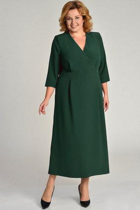 Купить Платье Elga 01-564 зелёный, Платья, 01-564, зелёный, 72% Вискоза 25% ПЭ 3% Спандекс, Мультисезон