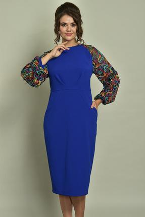 Купить Платье Solomeya Lux 513 василек, Платья, 513, василек, полиэстер-60%, вискоза-35%, эластан-5%, Мультисезон