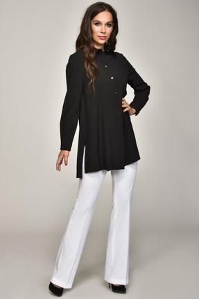 Купить Блузка Teffi style 1354 черный, Блузки, 1354, черный, 95% пэ, 5% эластан, Мультисезон