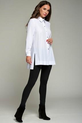 Купить Блузка Teffi style 1354 белый, Блузки, 1354, белый, 95% пэ, 5% эластан, Мультисезон