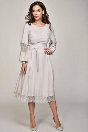 Купить Платье Teffi style 1358 жемчуг, Платья, 1358, жемчуг, 95% пэ, 5% эластан, Мультисезон