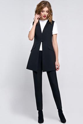 Купить Комплект брючный Denissa Fashion 1076-1.2 черный, Брючные, 1076-1.2, черный, ПЭ 71%, вискоза 23%, спандекс 6%, Мультисезон