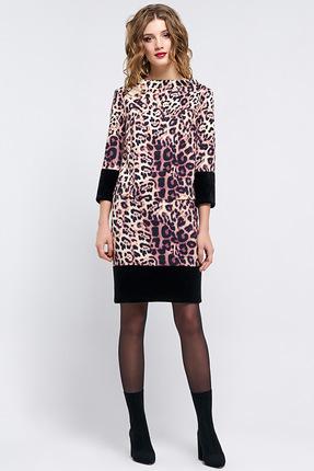 Купить Комплект юбочный Denissa Fashion 1180 леопард , Юбочные, 1180, леопард , 96% ПЭ, 4% спандекс , Мультисезон