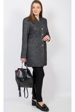 Купить Пальто TricoTex Style 1552 темно-серый, Пальто, 1552, темно-серый, Шерсть 56%, п/э 44%, Мультисезон