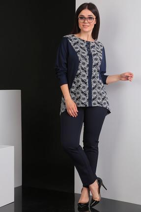 Комплект брючный Мода-Юрс 2392 синий